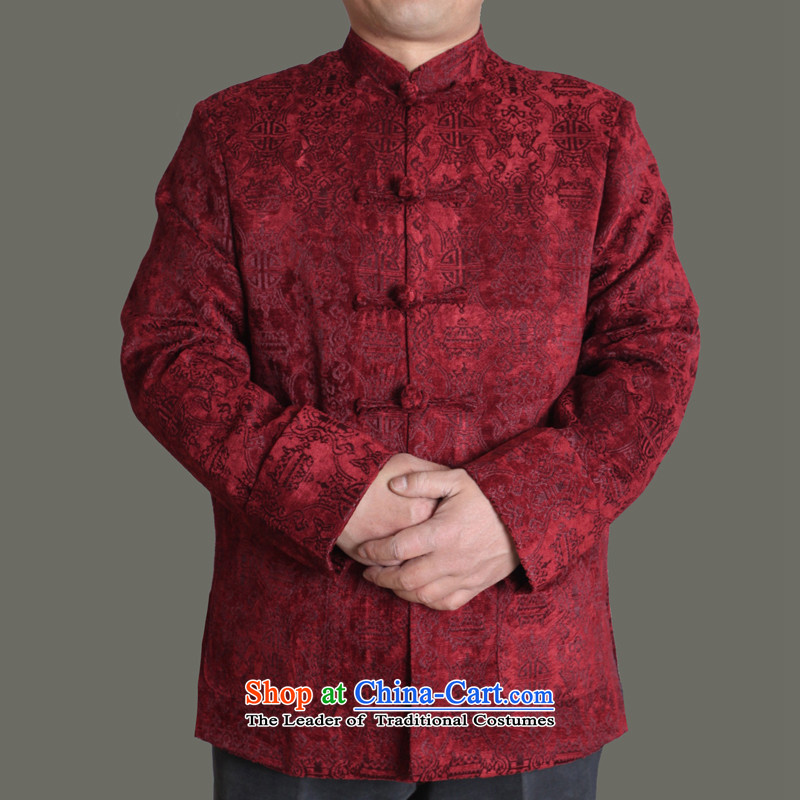 The Cave of the elderly by 2015 autumn and winter New Men Tang dynasty upscale male Tang jackets male and the elderly in the Tang dynasty fashion autumn middle-aged men Y722 BOURDEAUX 175
