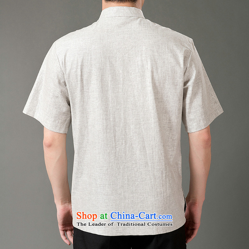 Adam and Eve 2015 Summer of elderly men cotton linen half sleeve father short-sleeved in Sau San elderly men short-sleeved Tang dynasty elderly men summer SH226 Light Gray聽, 170 yards to the Cave of the elderly聽has been pressed shopping on the Internet