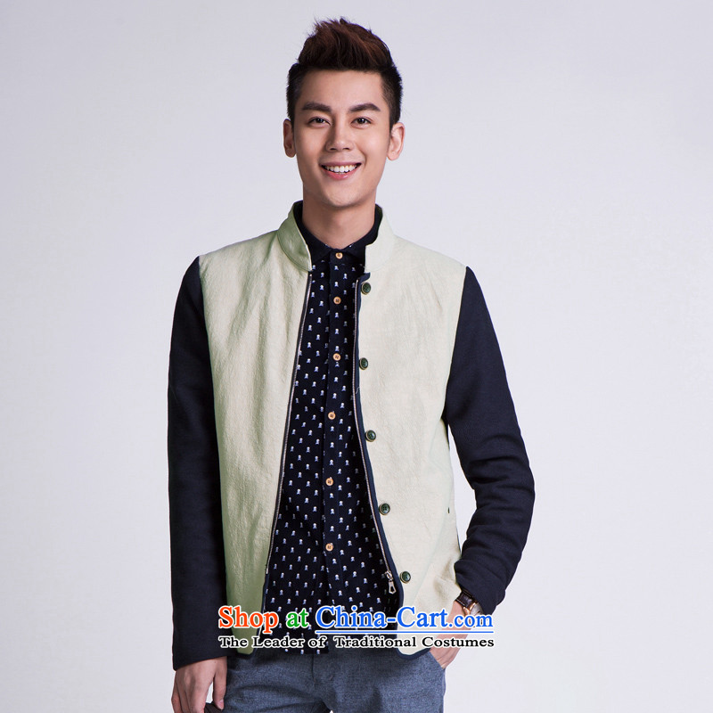 ? WOLFLAG Health 2015 spring of leisure as Korean fashion Sau San collar jacket Tang Jacket Card its�XL(175) AB-5320H male