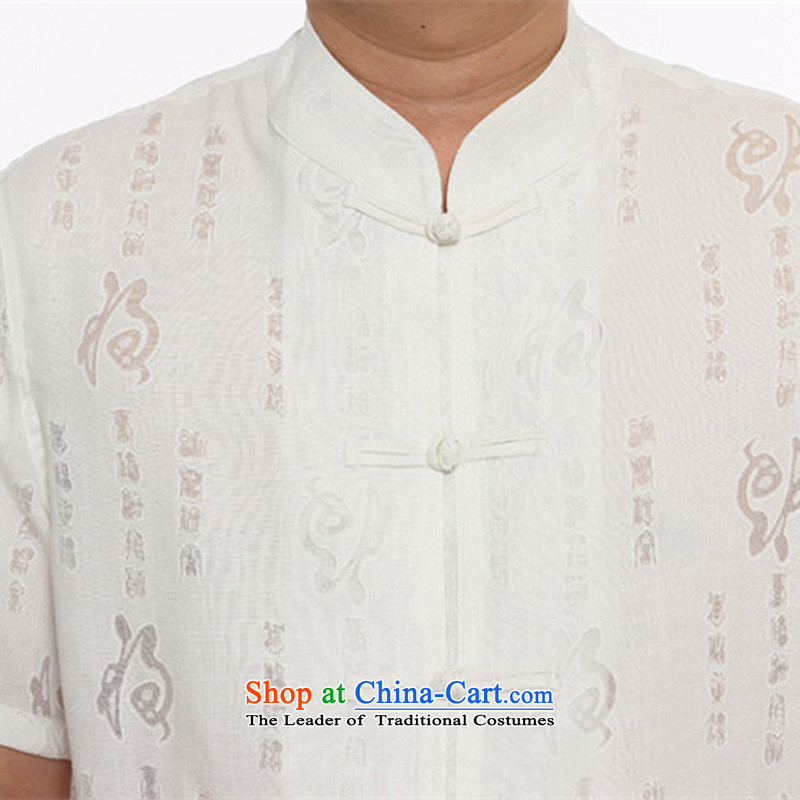 Rollet HIV from older men and Tang Dynasty Package men short-sleeved Tang Dynasty Package and flax Tang dynasty men's m White聽XL170, HIV ROLLET (AICAROLINA) , , , shopping on the Internet