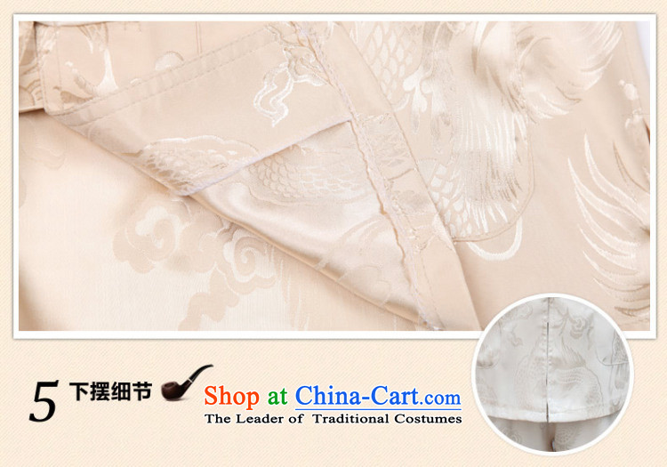 In accordance with the consultations with the spring and summer of 2015, Tang dynasty father long-sleeved home China wind dragon design in T-shirt older men's shirts father Father's Day rice white聽170/L load weight recommendations 100-130 catty picture, prices, brand platters! The elections are supplied in the national character of distribution, so action, buy now enjoy more preferential! As soon as possible.