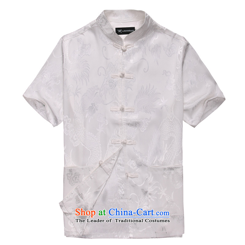 Summer 2015 new products from Vigers Po Man Tang dynasty?B-007 short-sleeved?white?M