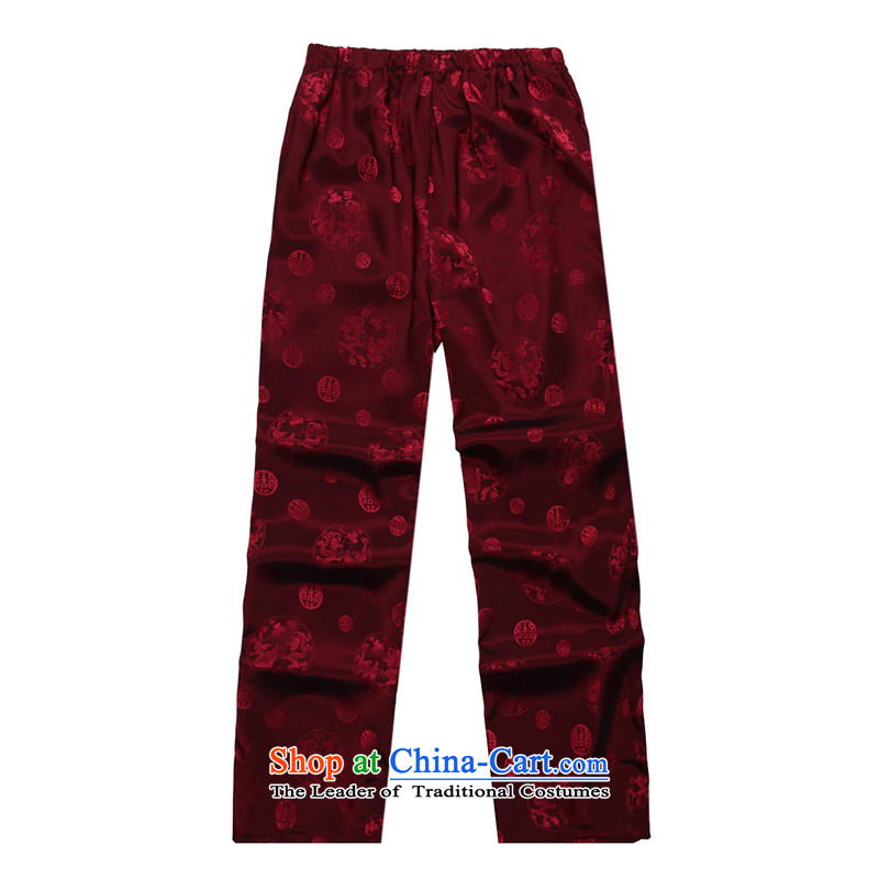 2015 Spring_Summer load new products from Vigers Po Tang dynasty China Wind Pants B-004b red L