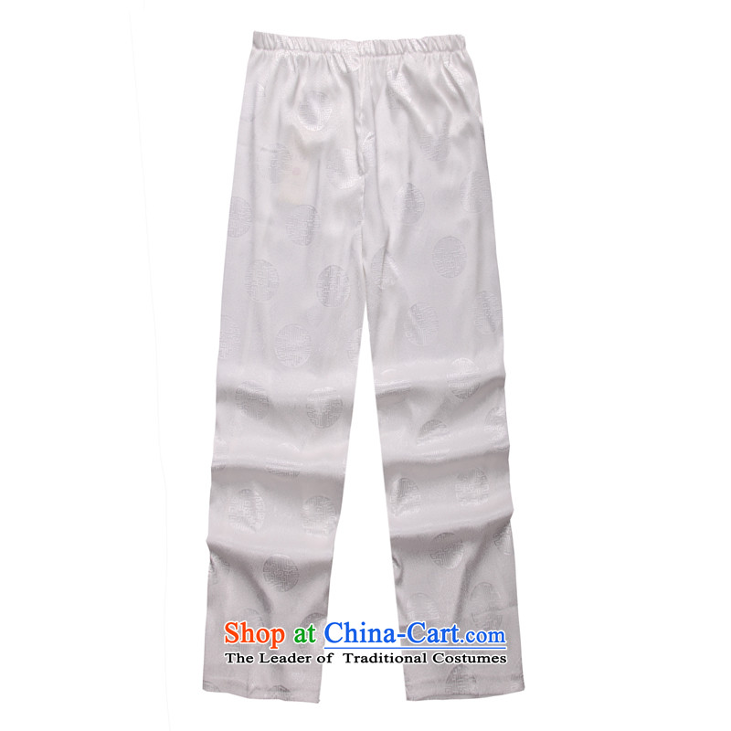 2015 Spring_Summer load new products from Vigers Po Tang dynasty China Wind Pants聽B-002b聽聽XXXL White