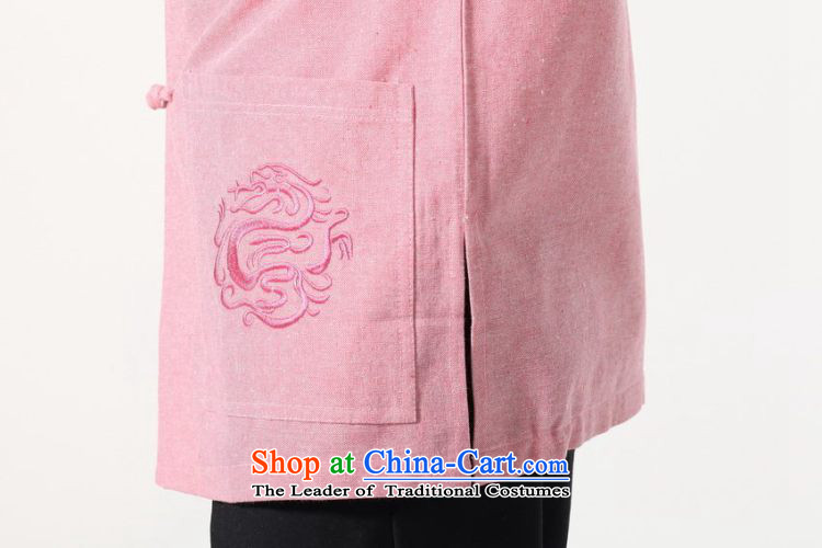 158 Jing summer new short-sleeved Tang Dynasty Chinese Improved large Chinese tunic of Men's Mock-Neck embroidered cotton linen Tang dynastyM0053 shirtcolor pictureXXXL( recommendations 180-210 catty picture, prices, brand platters! The elections are supplied in the national character of distribution, so action, buy now enjoy more preferential! As soon as possible.