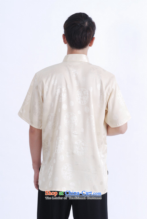 158 Jing in Tang Dynasty older men and summer Mock-neck damask Tang dynasty men short-sleeved larger men Chinese tunic women had the T-shirt, beige XXL( M0017 recommendations 160-175 catty) Picture, prices, brand platters! The elections are supplied in the national character of distribution, so action, buy now enjoy more preferential! As soon as possible.