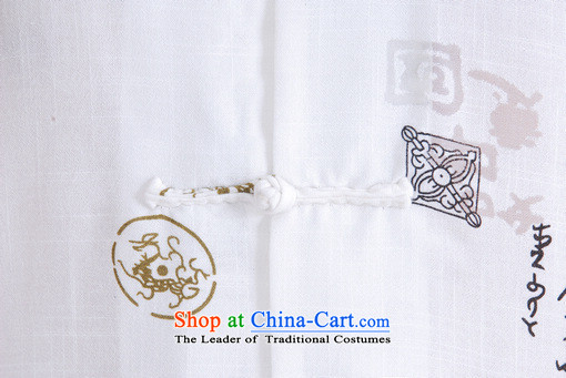 158 Jing in Tang Dynasty older men and summer collar linen Tang dynasty men short-sleeved larger men China wind聽M0009 Chinese tunic聽white聽XXL( improvement recommendations 160-175 catties) Picture, prices, brand platters! The elections are supplied in the national character of distribution, so action, buy now enjoy more preferential! As soon as possible.