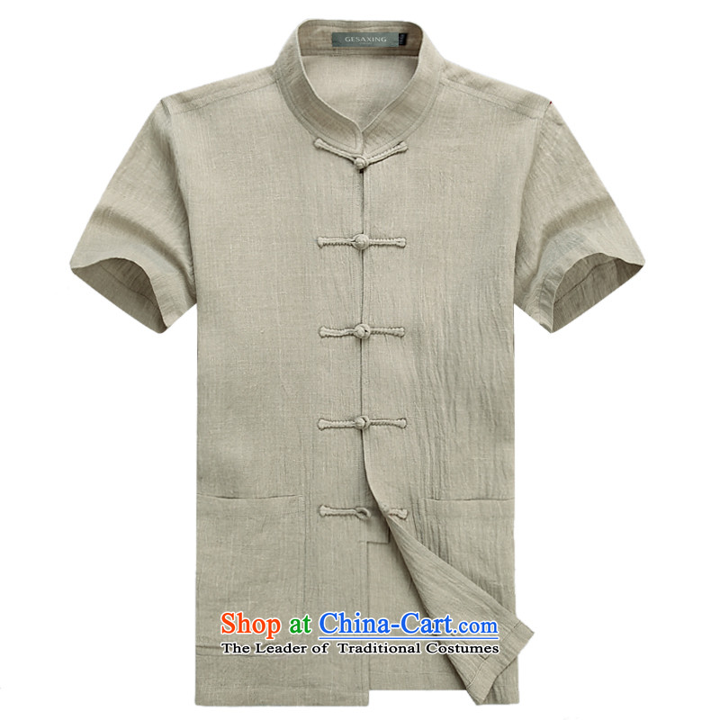 Upscale anti-wrinkle Taegeuk services cotton linen flax martial arts services practice suits meditation ball-service leisure Tang blouses men advanced money-wrinkle linen itchy beige�XL/180 ended