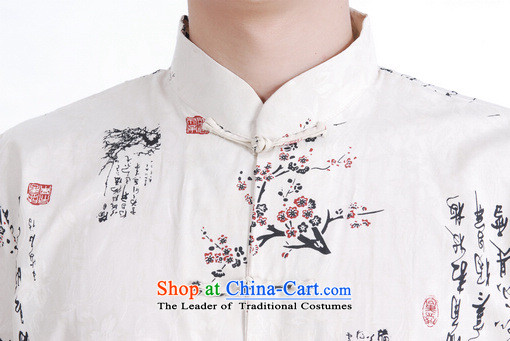 Floor load floor is father new summer men Short-Sleeve Mock-Neck Stamp Large Tang dynasty shirt with older men and beige聽M picture, prices, brand platters! The elections are supplied in the national character of distribution, so action, buy now enjoy more preferential! As soon as possible.