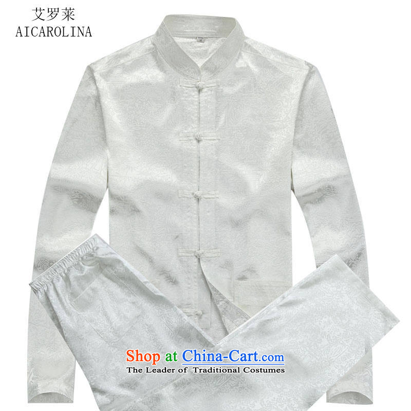 Hiv Rollet Autumn New China wind long-sleeved Tang Dynasty Tang dynasty men fall blouses Kit packaged聽175_L White