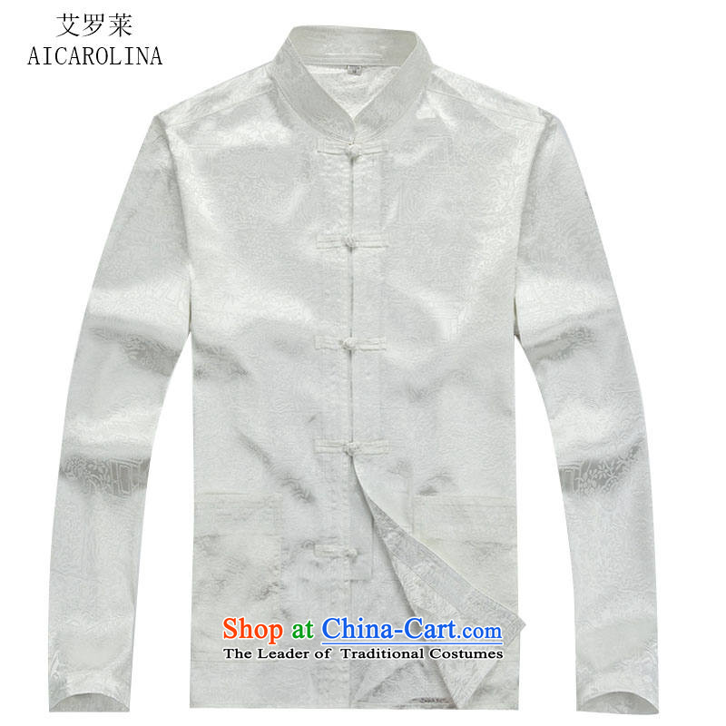 Hiv Rollet Autumn New China wind long-sleeved Tang Dynasty Tang dynasty men fall blouses Kit White Kit聽175/L, HIV ROLLET (AICAROLINA) , , , shopping on the Internet