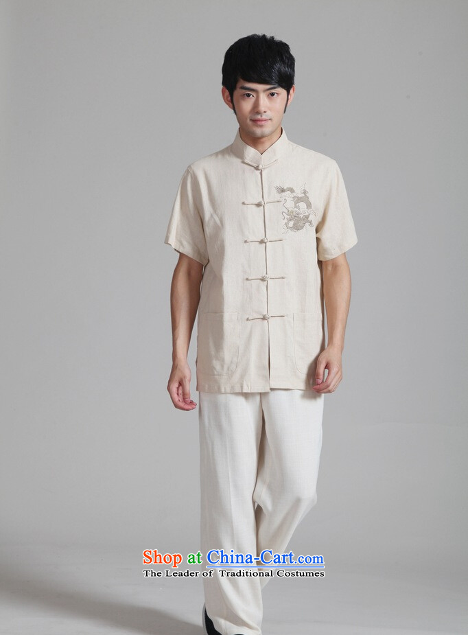 Shanghai, optimization options in Tang Dynasty older men and summer cotton linen collar embroidered Tang Dynasty Chinese dragon men short-sleeved larger men 2999 - 2 beige XL recommendations appears at paragraphs 145-155, prices, picture catty brand platters! The elections are supplied in the national character of distribution, so action, buy now enjoy more preferential! As soon as possible.