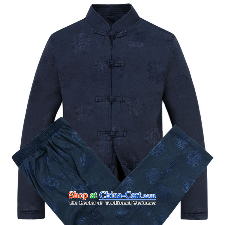 Kanaguri mouse men Tang dynasty autumn and winter new thick cotton Tang Dynasty Package for older men Tang dynasty dark blue T-shirt M picture, prices, brand platters! The elections are supplied in the national character of distribution, so action, buy now enjoy more preferential! As soon as possible.