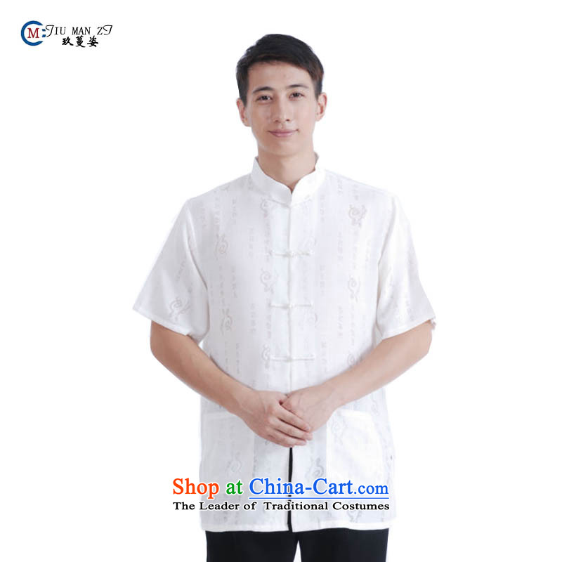 Ko Yo Overgrown Tomb�spring and summer 2015 Gigi Lai new collar dragonfly detained for larger leisure Tang dynasty men stamp well field T-shirt�XXXL White