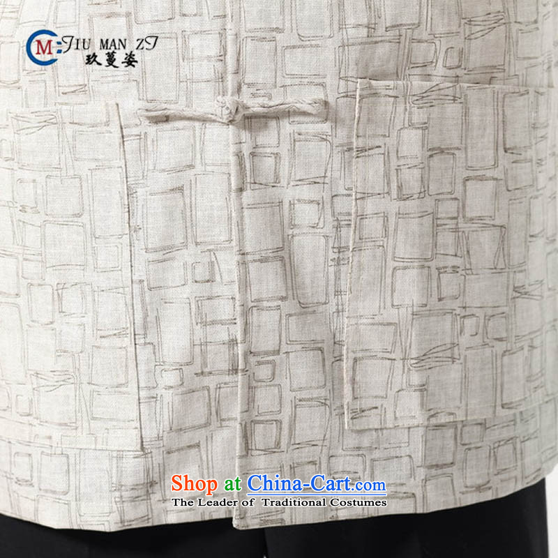 Ko Yo Overgrown Tomb Gigi Lai聽Man 2015 Summer cotton linen collar disc is older men Tang Dynasty Short-Sleeve Men National Dress Casual M0054 Tang dynasty white聽XXXL, Ko Yo Overgrown Tomb Gigi Lai , , , shopping on the Internet