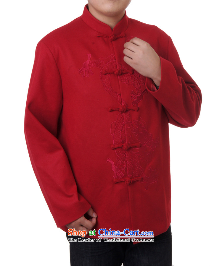Men's spring and autumn sureyou new replacing Men's Mock-Neck tray snap leisure Tang dynasty Long-sleeve Tang blouses chest embroidered dragon 717 red 180 pictures, prices, brand platters! The elections are supplied in the national character of distribution, so action, buy now enjoy more preferential! As soon as possible.