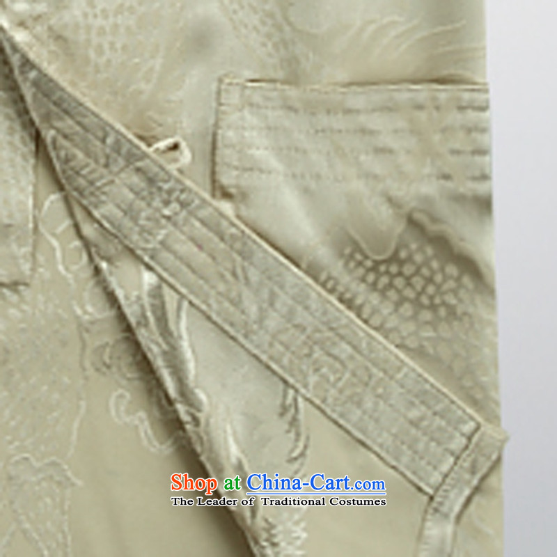 Hei concentric聽2015 Fall/Winter Collections of new products in the Tang dynasty China wind Older long-sleeved kit men stylish shirt, beige pants Tang services with a trouser press聽M Hi concentric , , , shopping on the Internet