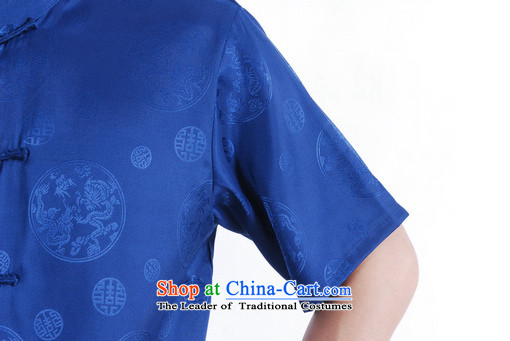 To Jing Ge older men summer Tang Dynasty Chinese women had improved the Tang dynasty men's large short-sleeved men on cyan聽XXL picture, prices, brand platters! The elections are supplied in the national character of distribution, so action, buy now enjoy more preferential! As soon as possible.