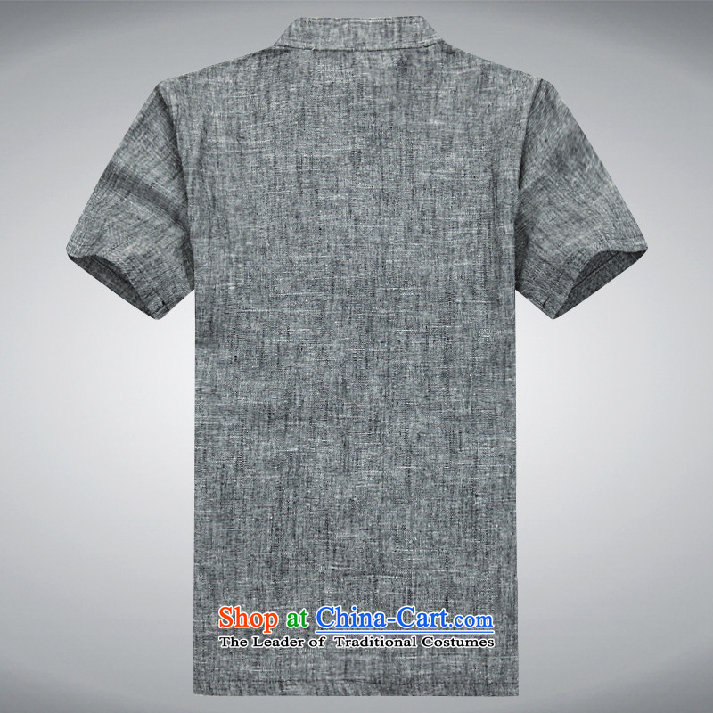 Hei concentric聽spring and summer 2015 high-end men in smart casual older Tang dynasty cotton linen short-sleeved father boxed packaged set of聽S-hi concentric Gray , , , shopping on the Internet