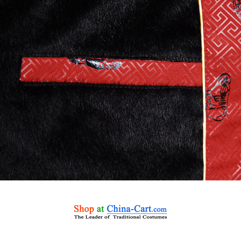In accordance with the load spring and autumn love l stylish new collar stitching stamp in the elderly father replacing Tang blouses聽LGD/M0039#聽RED聽XL, in accordance with the Love l , , , shopping on the Internet