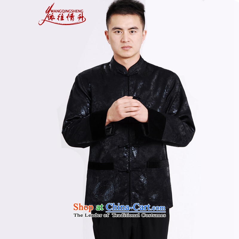 In accordance with the Love l spring trendy new products in the winter older father replacing Mock-neck stamp Tang jackets�LGD/M0037#�black�L