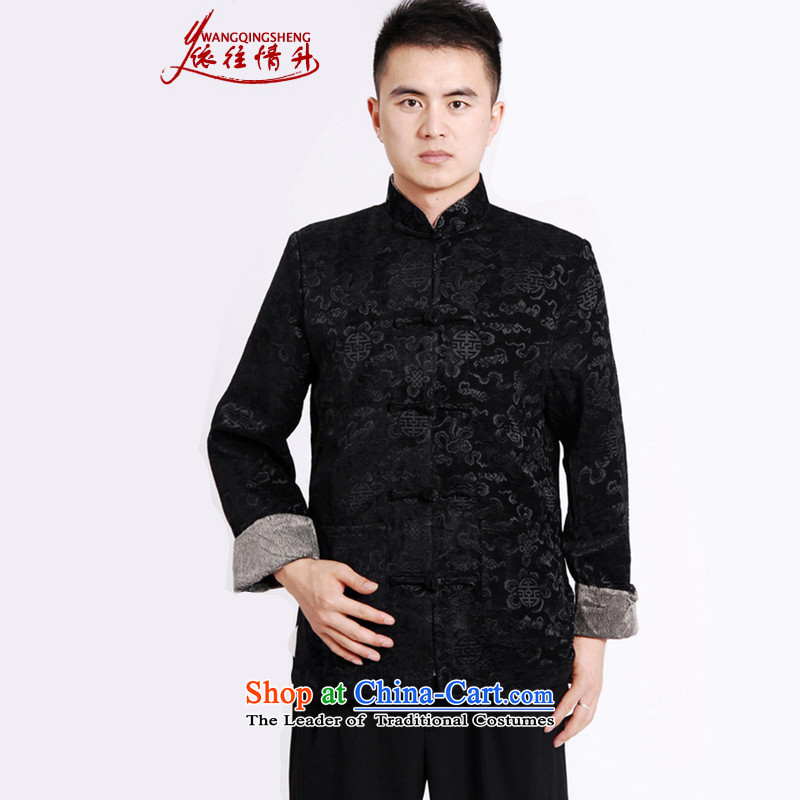 In accordance with the love in autumn and winter trendy new products. The elderly father replacing stamp Tang jackets?LGD/M0036#?black?L