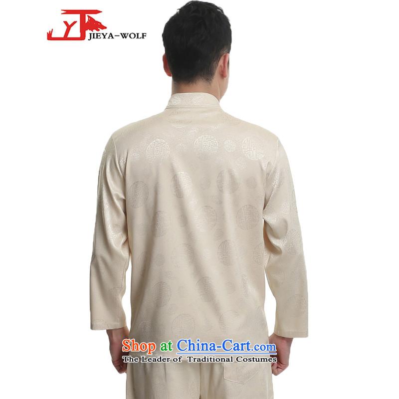 - Wolf JIEYA-WOLF, New Tang dynasty Long-sleeve Kit Stylish spring and fall Millennium Star) Men Kit tai chi loading yellow聽185/XXL,JIEYA-WOLF,,, shopping on the Internet