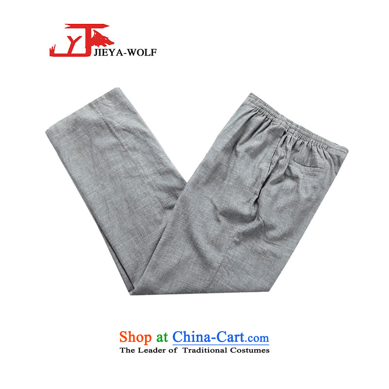 - Wolf JIEYA-WOLF2015, New Package Tang dynasty men's spring and autumn long-sleeved cotton linen manually Tang dynasty detained Tray Kit, light gray set of stars聽180/XL,JIEYA-WOLF,,, shopping on the Internet