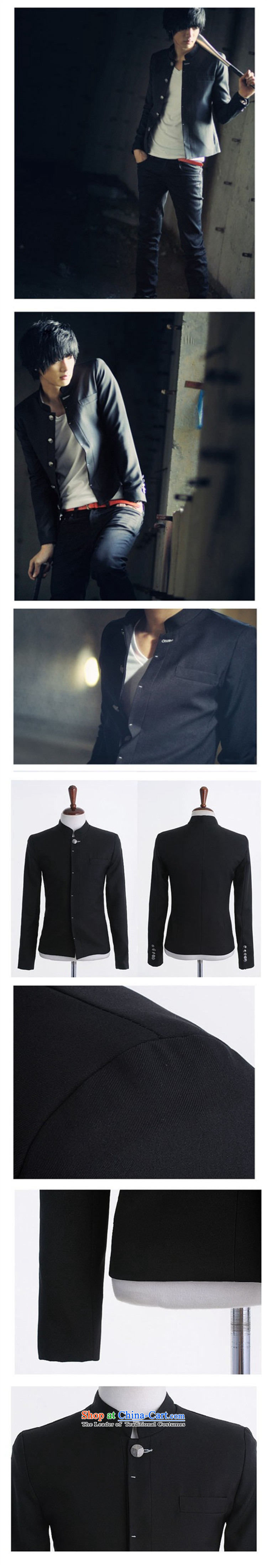 Santo M 2015 autumn and winter men Chinese tunic gross?) male and cultivating the thick Korean collar small jacket men's black suit聽170/M picture, prices, brand platters! The elections are supplied in the national character of distribution, so action, buy now enjoy more preferential! As soon as possible.
