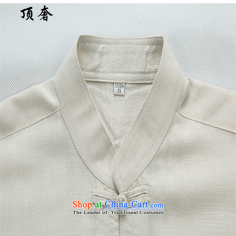 Top Luxury of ethnic men Tang long-sleeved blouses boxed loose thin, men detained national load tray blue long-sleeved sweater, dark blue聽L/170, 2043 top luxury shopping on the Internet has been pressed.
