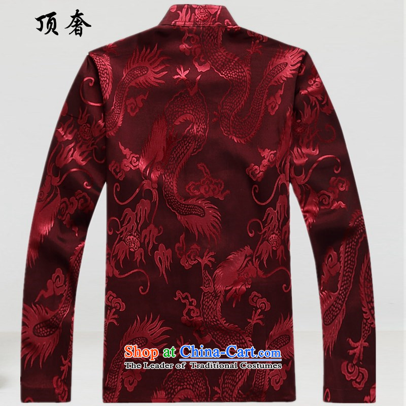 Top Luxury men Tang Dynasty Package long-sleeved聽shirt, long-sleeved thin 2015 kit Tang Dynasty Chinese ROM version relaxd wind red Tang dynasty 2039, Male Red Kit聽M/170, top luxury shopping on the Internet has been pressed.