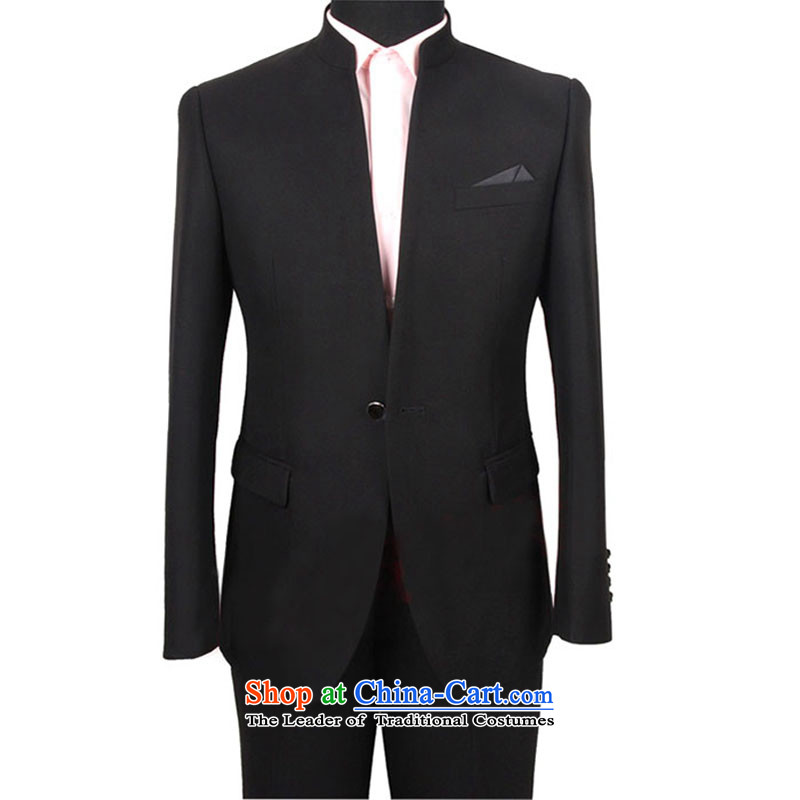 The new style of the popular men suits Chinese tunic?1 clip black collar suit not cockle a deduction of the forklift truck is not?170/88A.