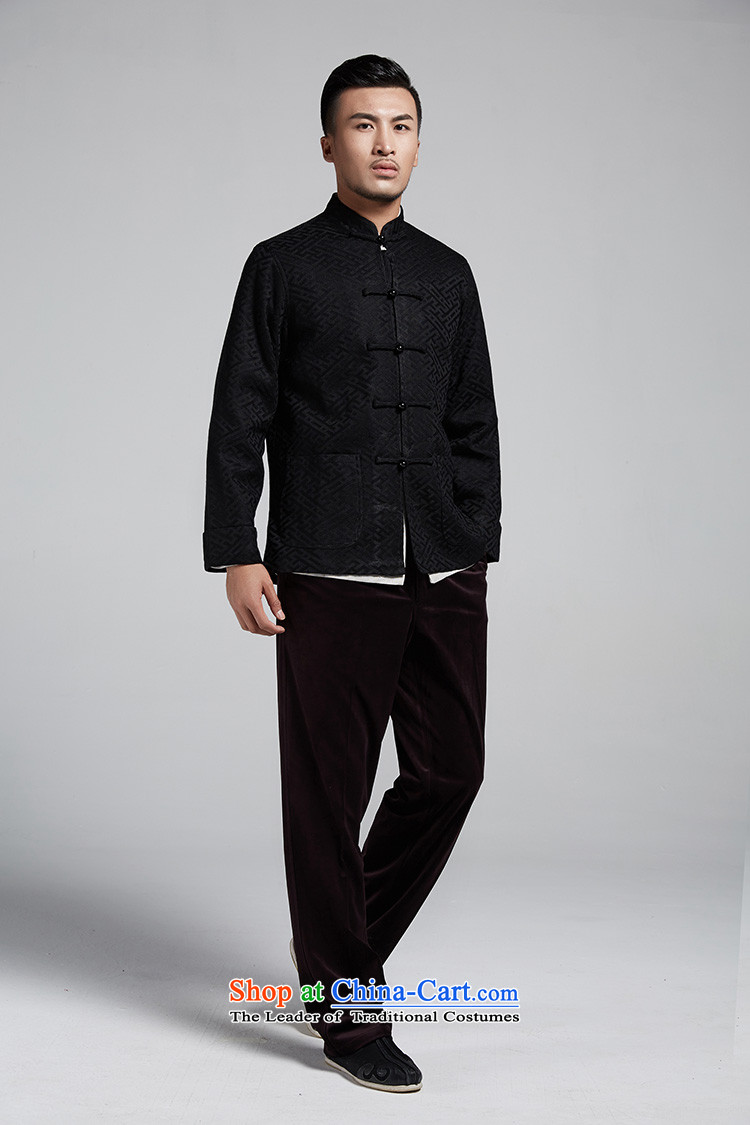 Q Shinsaibashi represented a health (men's new Chinese Disc winter detained collar jacket silk shirt WXZ1561 Jacquard Black聽XL 170/92 picture, prices, brand platters! The elections are supplied in the national character of distribution, so action, buy now enjoy more preferential! As soon as possible.