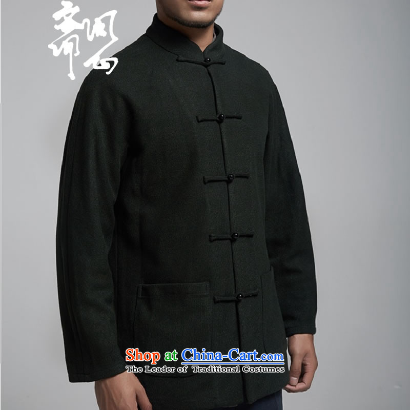 Q Shinsaibashi represented a health (Men's Winter new products do not stand collar small crinkleable jacket coat WXZ1559 shoulder even dark green L 170/92A, Q heart of Ramadan , , , shopping on the Internet