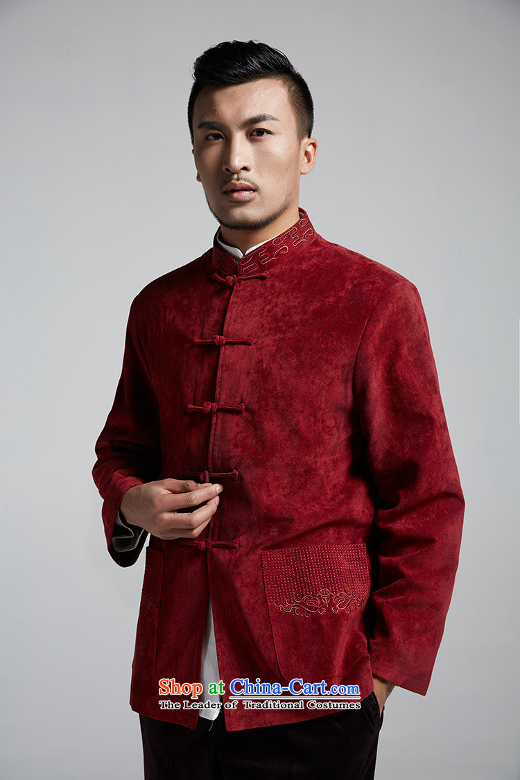 Q Shinsaibashi represented a health (men's new products fall arrest jacket Chinese Chinese Disc WXZ1558 wine red XXXL shirt 185/104 Photo, prices, brand platters! The elections are supplied in the national character of distribution, so action, buy now enjoy more preferential! As soon as possible.