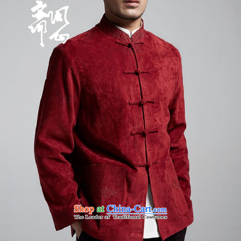 Q Shinsaibashi represented a health (men's new products fall arrest jacket Chinese Chinese Disc WXZ1558 shirt XXXL 185/104, wine red heart of Ramadan.... Q shopping on the Internet