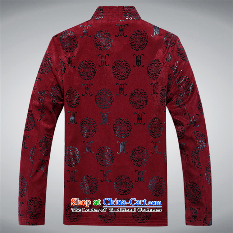 Kanaguri mouse during the spring and autumn of the elderly in the men's large leisure Chinese collar Tang Jacket coat with men's shirts father red聽190 pictures, prices, brand platters! The elections are supplied in the national character of distribution, so action, buy now enjoy more preferential! As soon as possible.