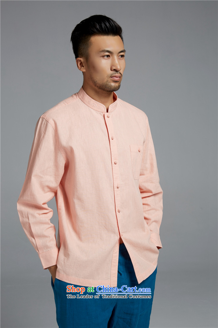 Q Shinsaibashi represented a health (men's spring new cotton linen Chinese long sleeved shirt Mock-Neck Shirt WXZ1552 embroidery pink聽XL Photo, prices, brand platters! The elections are supplied in the national character of distribution, so action, buy now enjoy more preferential! As soon as possible.