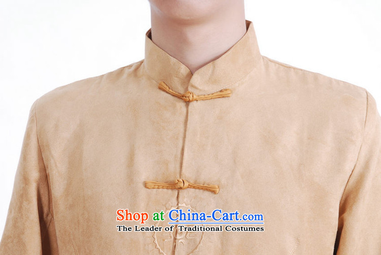 To Green, Stylish new products in the spring of elderly father loaded collar double dragon embroidery single row detained Tang jackets picture color聽M brand, prices, picture platters! The elections are supplied in the national character of distribution, so action, buy now enjoy more preferential! As soon as possible.