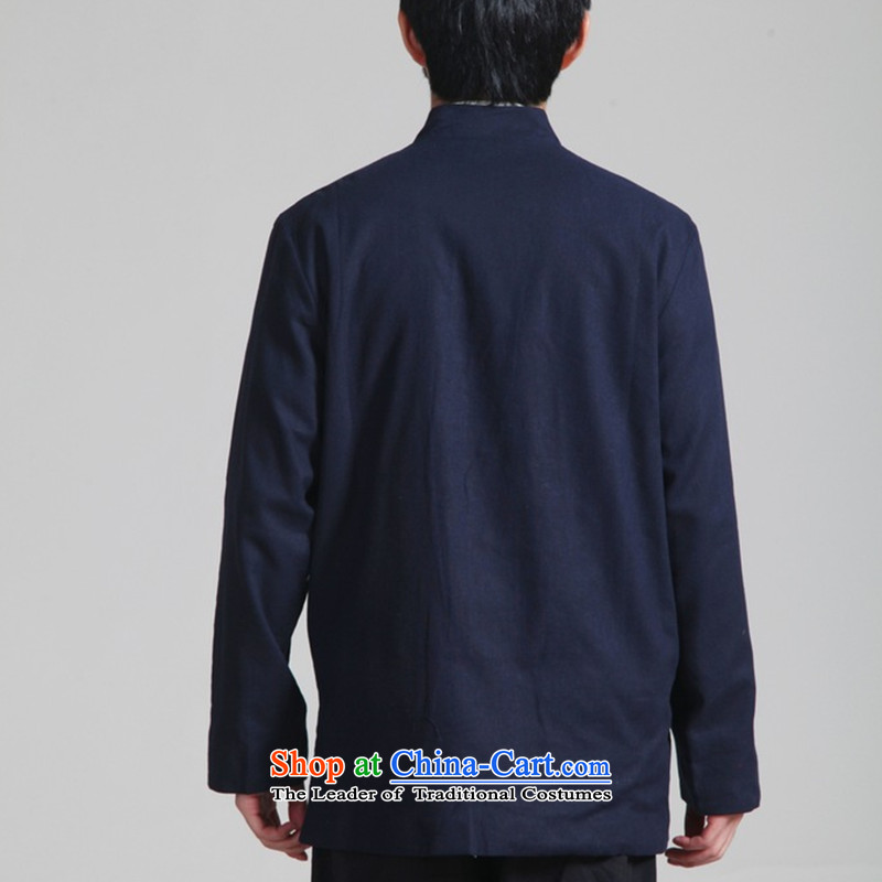 Floral autumn and winter in the new elderly men's father replacing men wearing cotton linen duplex ancient Tang dynasty long-sleeved jacket Cardigan Male聽- 3 on Tsing and beige聽, L, floral shopping on the Internet has been pressed.