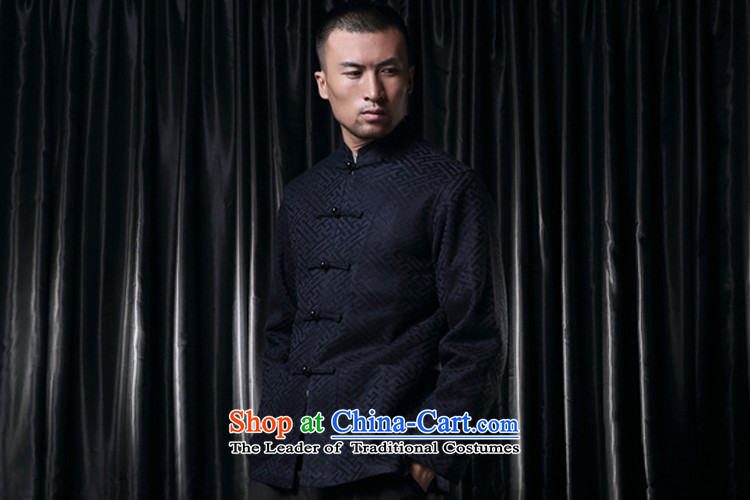 Q Shinsaibashi represented a health (men's new Chinese Disc winter detained collar jacket silk shirt WXZ1507 jacquard dark blueXXXXL 185/104 Photo, prices, brand platters! The elections are supplied in the national character of distribution, so action, buy now enjoy more preferential! As soon as possible.