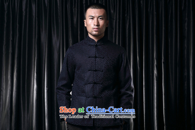 Q Shinsaibashi represented a health (men's new Chinese Disc winter detained collar jacket silk shirt WXZ1507 jacquard dark blue XXXXL 185/104 Photo, prices, brand platters! The elections are supplied in the national character of distribution, so action, buy now enjoy more preferential! As soon as possible.