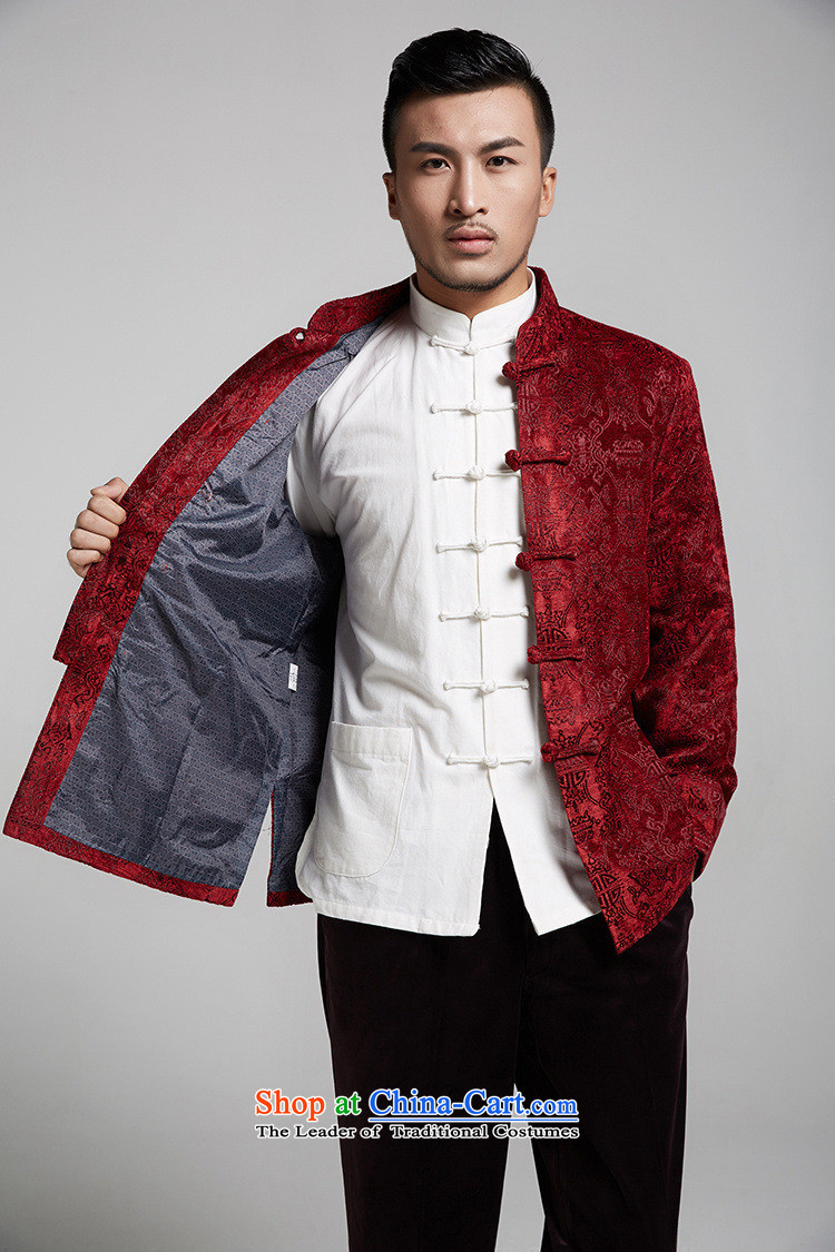 Q Shinsaibashi represented a health (men of autumn and winter new Chinese jacquard shirt China Wind Jacket WXZ1503 XXXL wine red 185/104 Photo, prices, brand platters! The elections are supplied in the national character of distribution, so action, buy now enjoy more preferential! As soon as possible.