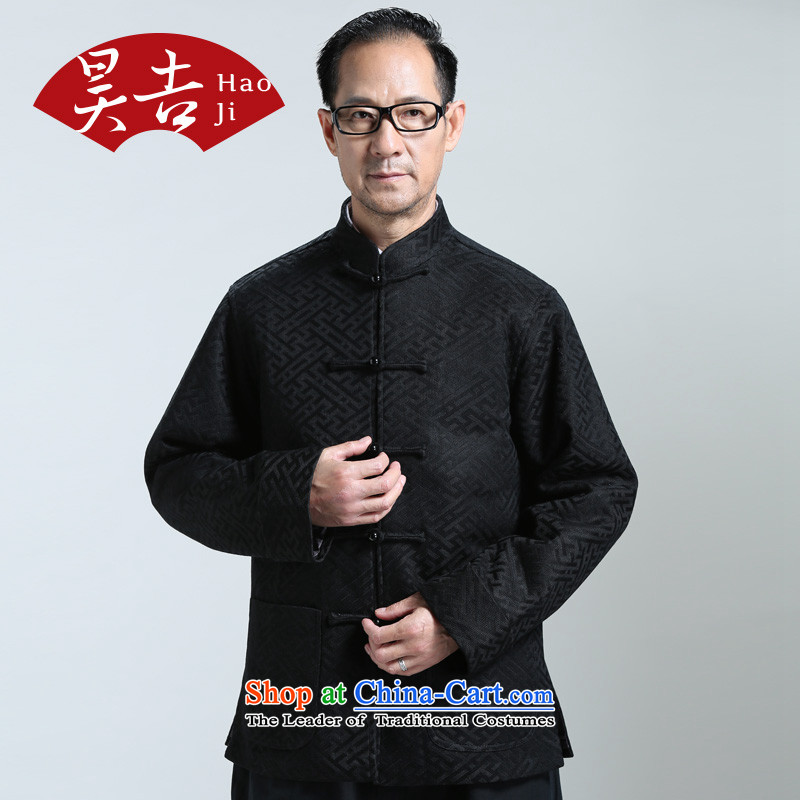 Ho Chi 2014 Autumn In New older men l tray clip Tang jackets of older persons T-shirt cardigan black?4XL