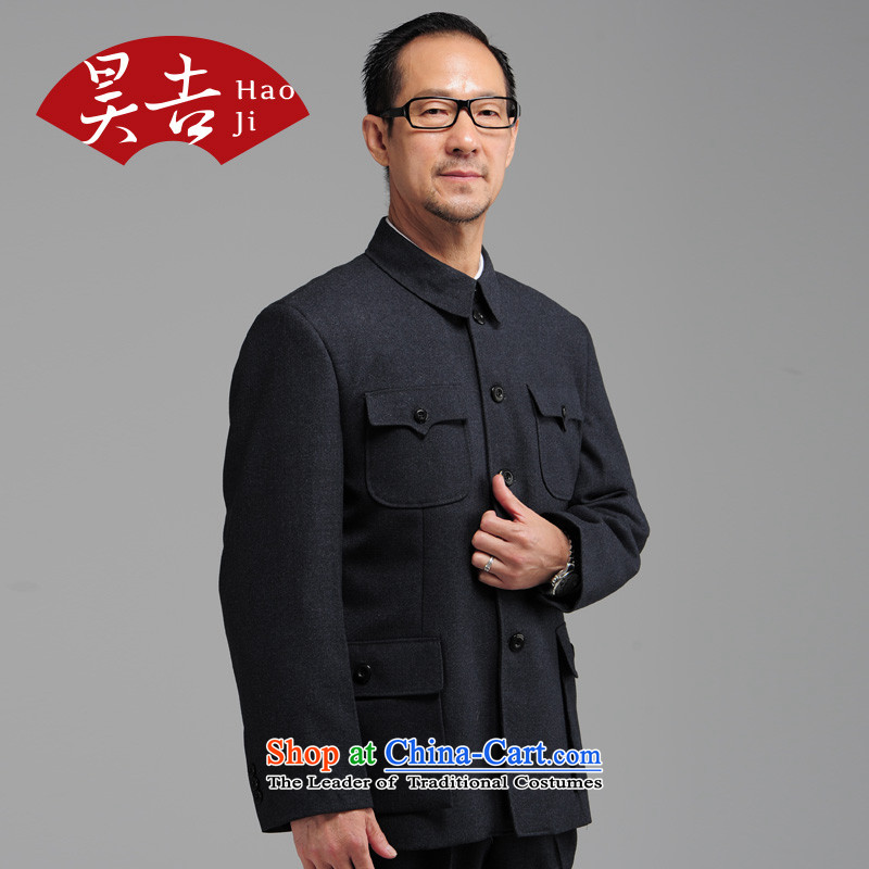 Ho Man In Gil older Autumn Chinese tunic kit older persons serving jacket father Father Zhongshan China wind blue�_175_ Tang