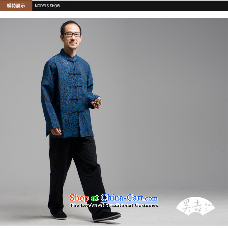 Ho Chi silk jacquard autumn new) older men long-sleeved Tang Dynasty Han-elderly jacket disc buttoned, Red聽4XL Photo, prices, brand platters! The elections are supplied in the national character of distribution, so action, buy now enjoy more preferential! As soon as possible.