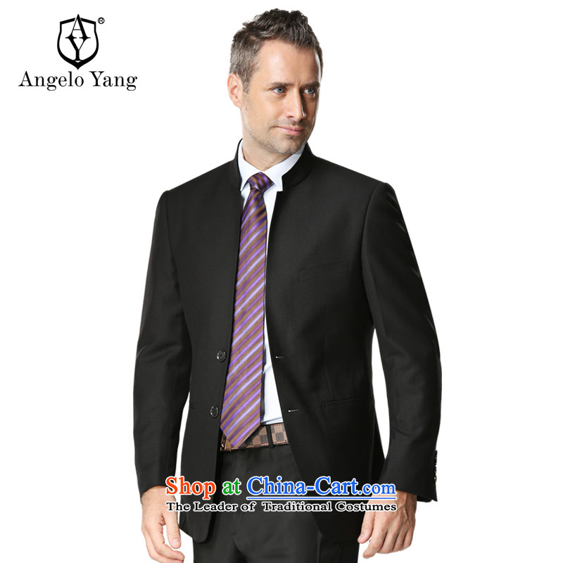 On the?ANGELOYANG Solomon his?men Chinese tunic suits China wind Sau San suit leisure suit black?L_175a Wedding dress