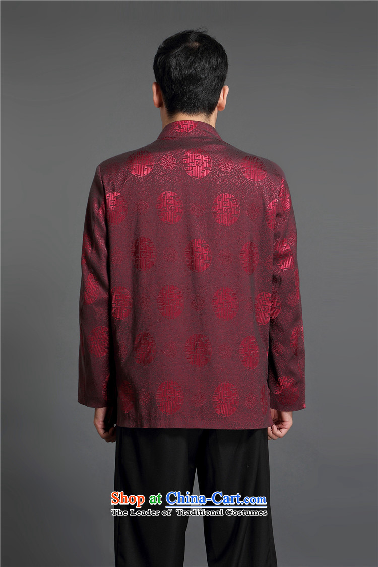 Kanaguri Mouse Tang jacket autumn Men/in replacing older/Person Tang dynasty and long-sleeved shirt men during the spring and autumn men Tang wine red聽170 pictures, prices, brand platters! The elections are supplied in the national character of distribution, so action, buy now enjoy more preferential! As soon as possible.