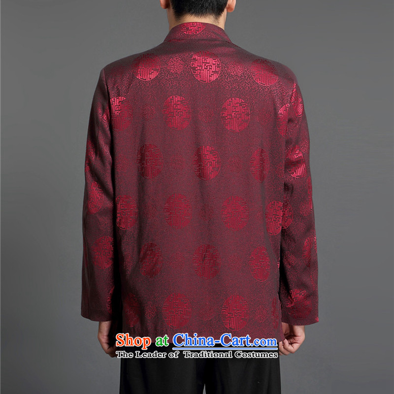 Kanaguri Mouse Tang jacket autumn Men/in replacing older/Person Tang dynasty and long-sleeved shirt men during the spring and autumn men Tang wine red聽170, kanaguri mouse (JINLISHU) , , , shopping on the Internet