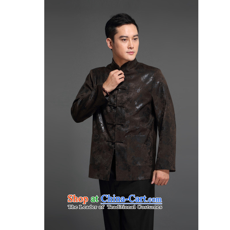 Kanaguri Mouse middle-aged men fall Tang dynasty in older men's jackets cotton leisure Tang jacket national dress with a brown father聽170, Kim Gopher (JINLISHU) , , , shopping on the Internet